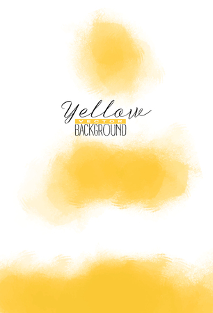 Abstract multiply colorful watercolor background in yellow color. Grunge paint design. Vector illustration. Ilustrace