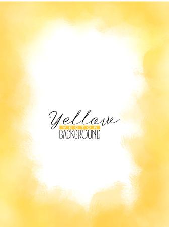 Abstract vermenigvuldigt kleurrijke aquarel achtergrond in gele kleur. Grunge verf ontwerp. Vector illustratie.