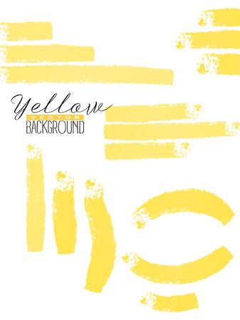 Abstract vermenigvuldigt kleurrijke aquarel achtergrond in gele kleur. Grunge verf ontwerp. Vector illustratie. Stockfoto - 86422539