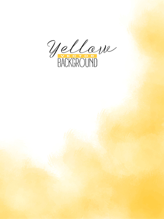 Abstract multiply colorful watercolor background in yellow color. Grunge paint design. Vector illustration. 向量圖像