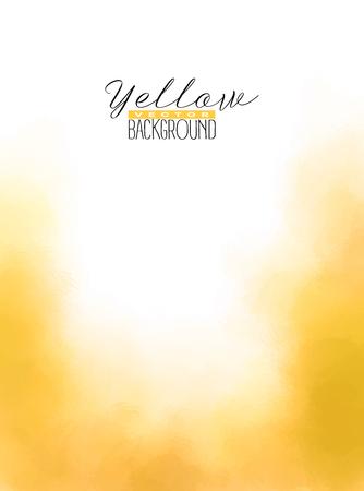 抽象黄色の色とりどりの水彩画の背景を乗算します。グランジ塗装デザイン。ベクターイラスト。