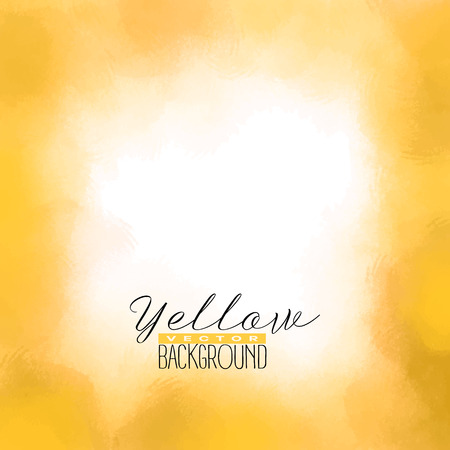 Yellow abstract watercolor painting.