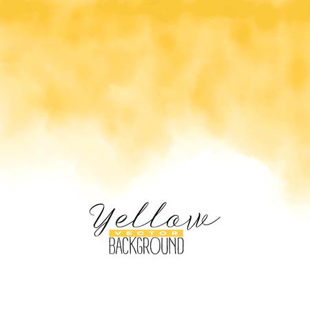 黄色の抽象的な水彩画。