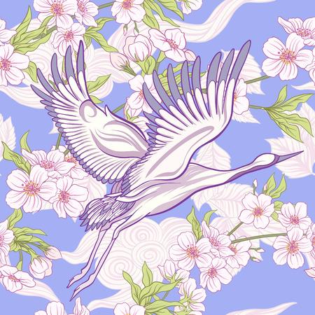 Crane and chrysanthemum icon.