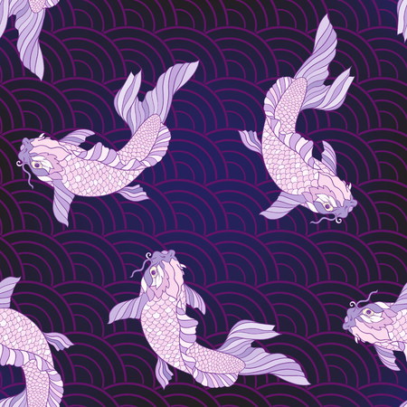 Purple carps pattern.