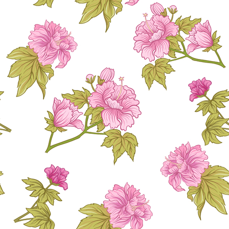 Seamless pivoine rose dans le style japonais . vector illustration Banque d'images - 86865637
