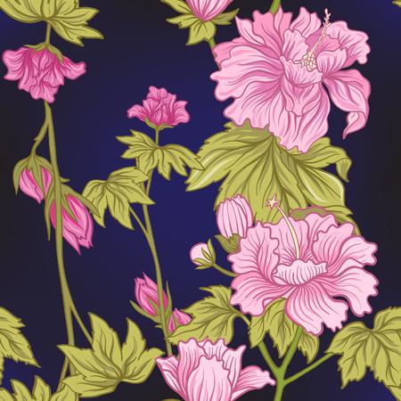 Seamless pivoine rose dans le style japonais . vector illustration Banque d'images - 86865639