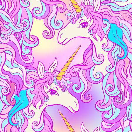Eenhoorn met veelkleurige manen, vlinder regenboog, ster en liefde