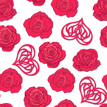 Patroon van rode bloemen
