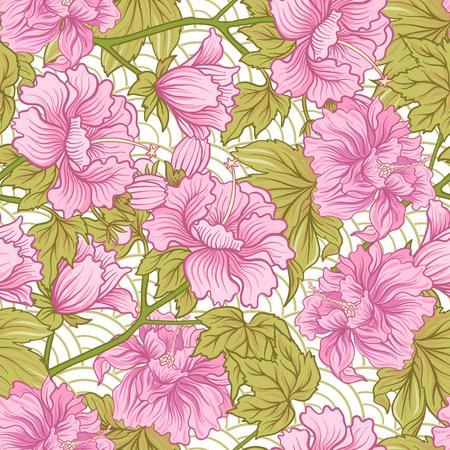 Patrón sin fisuras con peonía rosa en estilo japonés. Stock de vectores Foto de archivo - 86551108