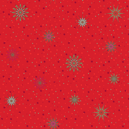 Seamless pattern, background with decorative stars.