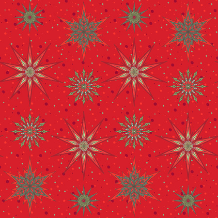 Seamless pattern background with decorative stars. Иллюстрация