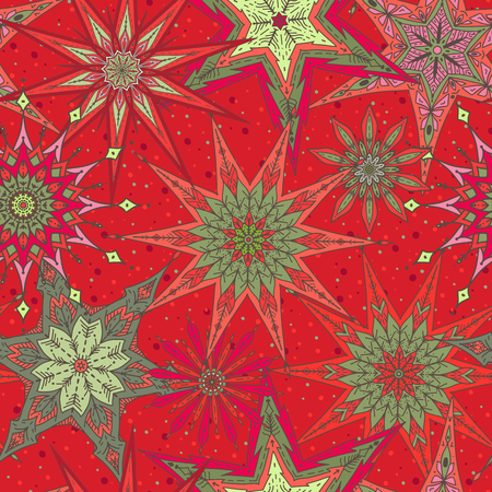 Seamless pattern background with decorative stars. Ilustração