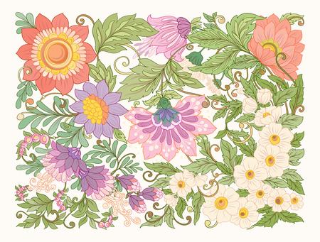 抽象的な花柄