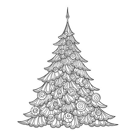 Christmas tree. Çizim