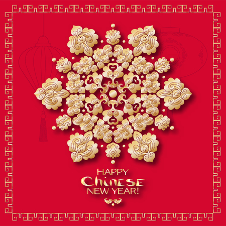 A vector illustration of design for Chinese New Year celebration. Фото со стока - 87220643
