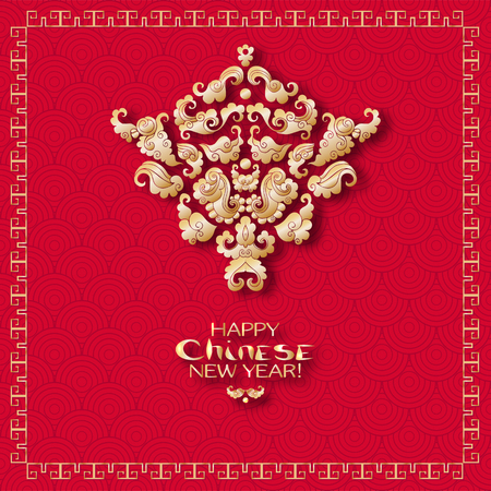 A vector illustration of design for Chinese New Year celebration. Фото со стока - 87220655