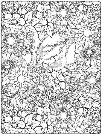Nahtloses mit Blumenmuster mit Schmetterlingen und Bienen im realistischen botanischen Stil. Drucken