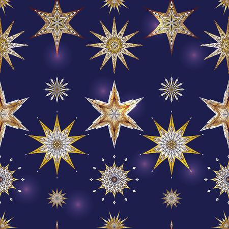 シームレスなパターン、装飾的な星と背景。