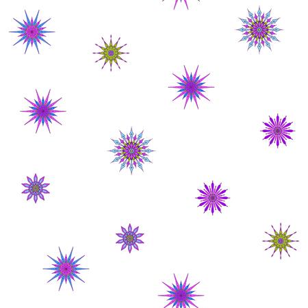 装飾的な星パターン。  イラスト・ベクター素材
