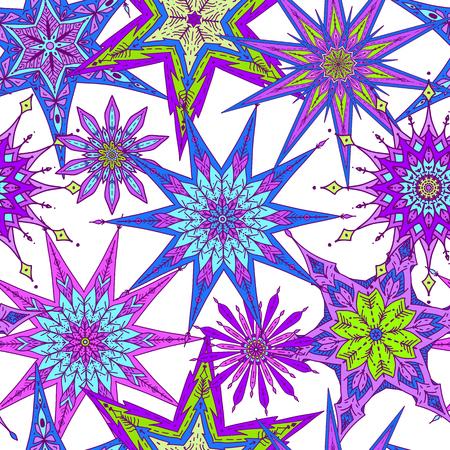 装飾的な星のパターン。  イラスト・ベクター素材