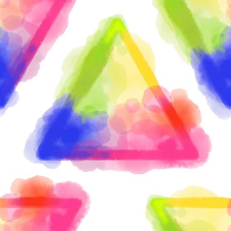 カラフルな幾何学模様。  イラスト・ベクター素材