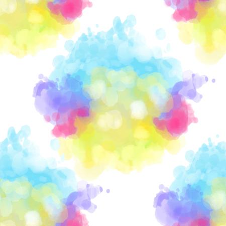 Multi-colored watercolor pattern. Banco de Imagens - 87528531