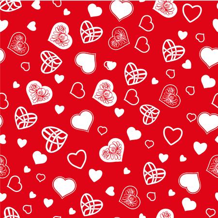 Love heart pattern.