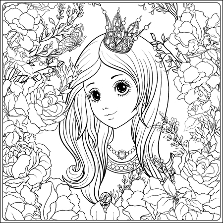 Princess in the garden of roses