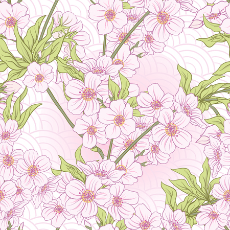 Sakura flowers pattern.