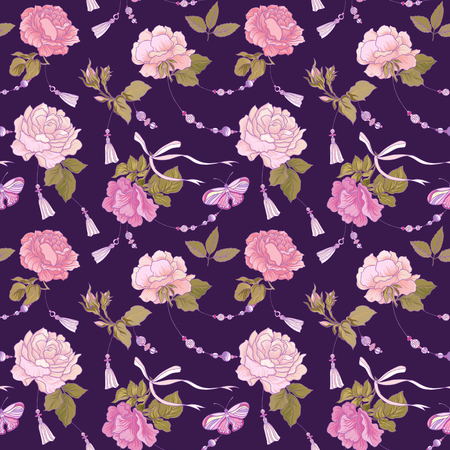 Pink roses pattern.