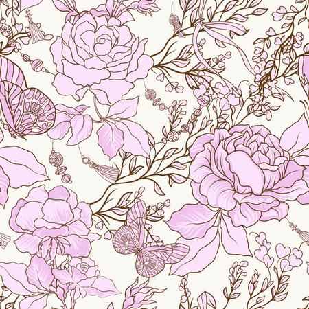 Patrón floral. Foto de archivo - 87674971