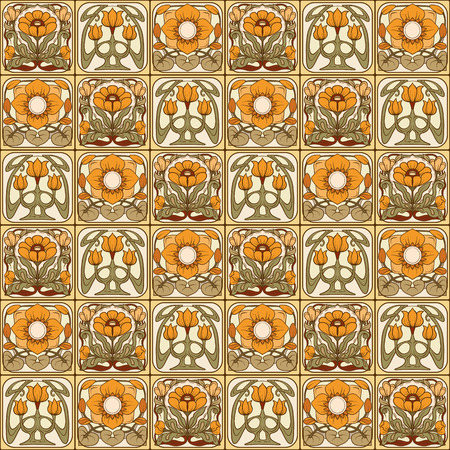 Seamless pattern, background with decorative elements in the sty 写真素材 - 106578491