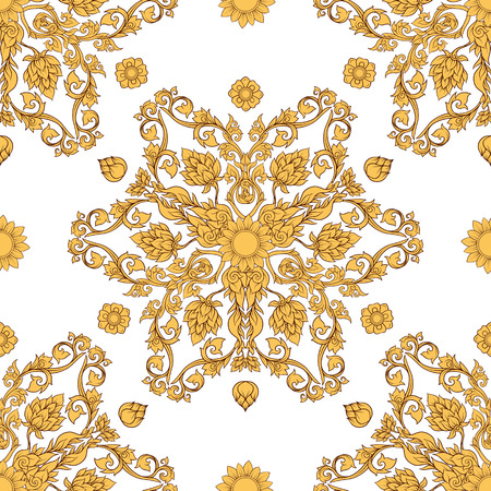 Seamless pattern, background of decorative elements of tradition
