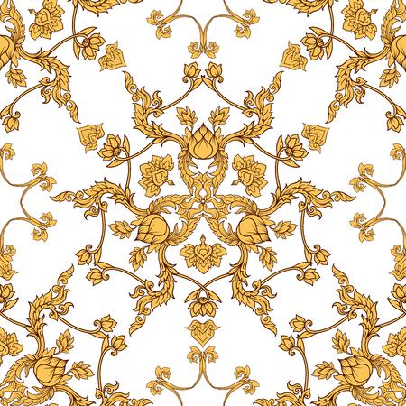 Naadloos patroon, achtergrond van decoratieve elementen van traditie