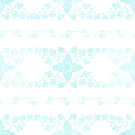Seamless pattern, background of blue   decorative elements of traditional Thai ornament. Stock vector illustration.