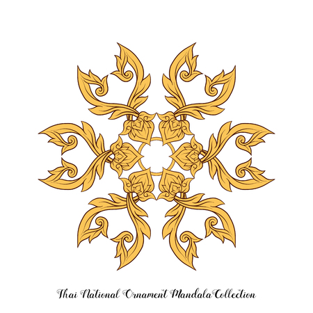 Mandala of traditional Thai ornament. Stock illustration.