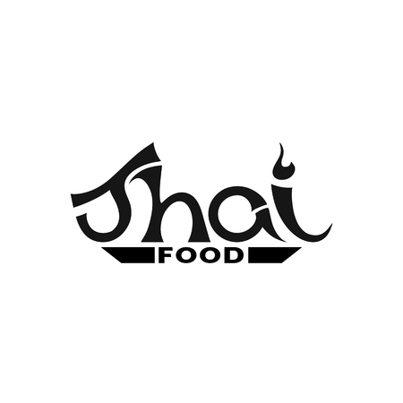 Logo for Thai food, restaurant. Vector illustration.