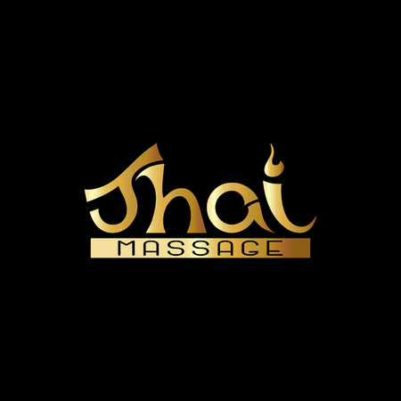 Logo for traditional Thai massage. In gold. Vector illustration.