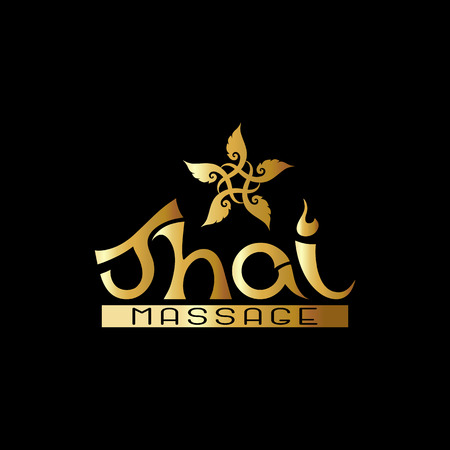 Logo for Thai massage with traditional thai ornament, pattern el 일러스트