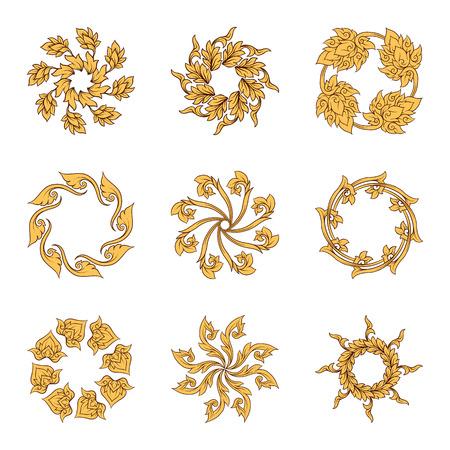 Un conjunto de elementos de adorno tradicional tailandés.