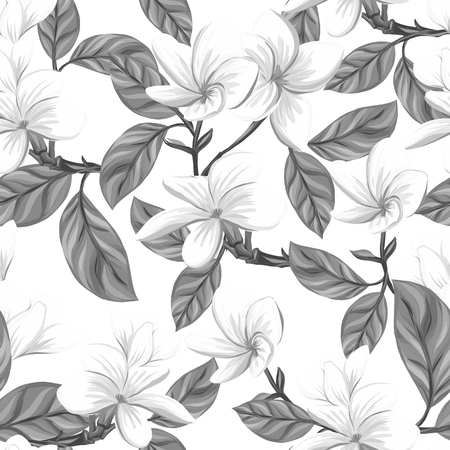 Seamless pattern, background with white plumeria plant 向量圖像