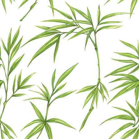 Vector seamless pattern, background with minimalistic plants