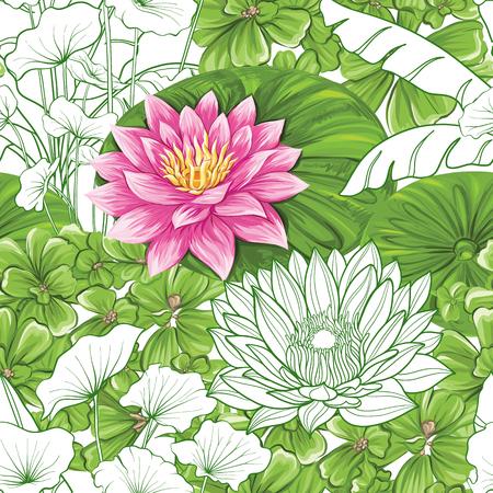 Wektor wzór, tło z roślin tropikalnych Ilustracje wektorowe