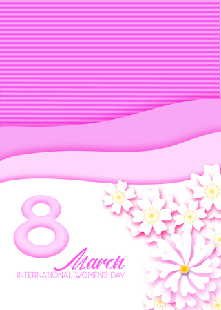 Abstract Pink  Floral Greeting card - International  Womens Day
