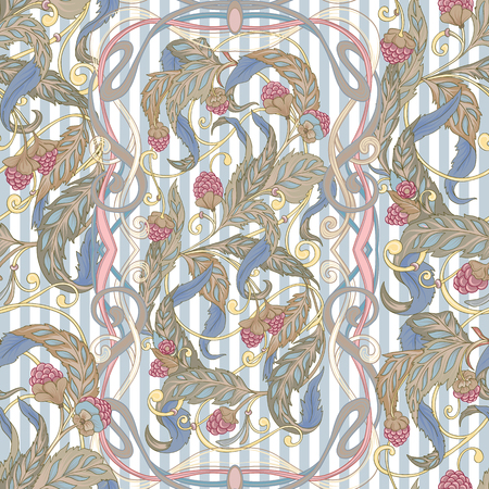 Seamless pattern with a set of different items, needs for SPA  or Thai massage 矢量图像