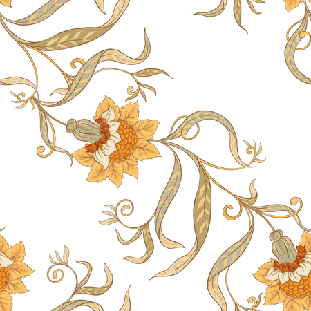 Floral seamless pattern, background  In art nouveau style, 스톡 콘텐츠 - 108424577