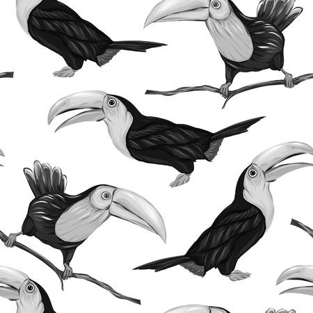 Patrón sin fisuras, fondo con pájaros. Ilustración vectorial Ilustración de vector