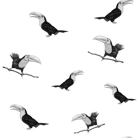 Patrón sin fisuras, fondo con pájaros. Ilustración vectorial