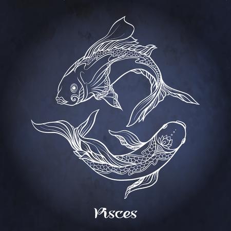 Sternzeichen. Astrologische Horoskopsammlung. Vektorillustration